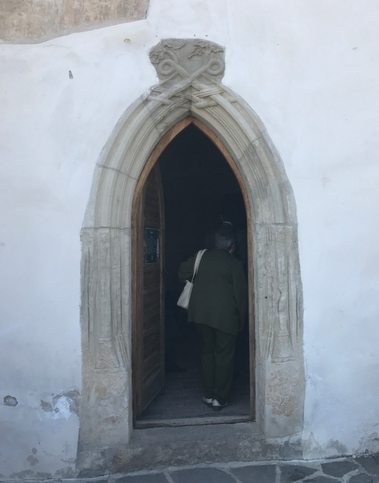 Records from the 1300s indicate the church was built earlier than 1300. The south wall entrance.