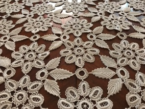 This lace, made by Enikő's mother, is, without exaggeration, the most beautiful piece of handwork I have ever seen.
