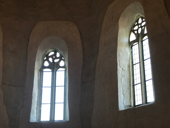 These windows remind me of the 8th century churches I visited in Turkey.
